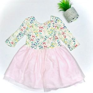 Old Navy Mixed Media Floral Criss Cross Tutu Dress